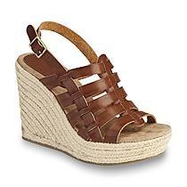 Mia Women's Basket Cognac Espadrille Wedge Sandal
