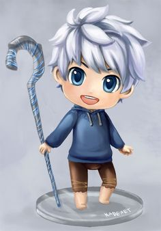 ROTG - Chibi!Jack Frost // oh goodness if that isn't the cutest thing I have ever seen...I must learn how to draw Chibi.  Rapunzel would be ADORABLE!