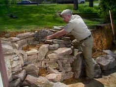 Build a Terraced Stone Retaining Wall