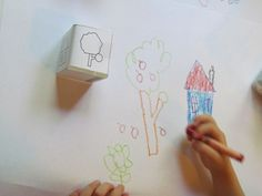 Sunny day drawing cube from Teach Preschool