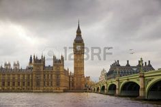 Big Ben and houses of Parliament on the river Thames London UK Stock Photo