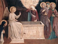 Fra Angelico, Resurrection of Christ and Women at the Tomb, detail, (Cell 8), 1440-42, fresco, 181 x 151 cm, Convento di San Marc