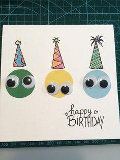 diy birthday cards for kids Eine Geburtstagskarte. Bday Cards, Kids Birthday Cards, Handmade Birthday Cards, Boy Birthday Cards, Simple Birthday Cards, Free Birthday, Birthday Parties, Kids Crafts, Kids Diy