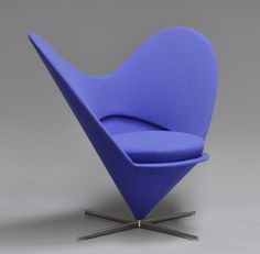 'Heart Cone Chair' / Heart Chair by Verner Panton. Produced by Vitra. Designed in 1959.