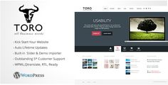 Toro - Business and Portfolio WordPress Theme - http://www.codegrape.com/item/toro-business-and-portfolio-wordpress-theme/7345