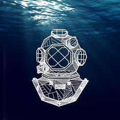 Custom #geometric diving mask #tattoo design Send commission inquiries to allisonkunath@gmail.com - include a reference photo + the approximate size that you'd like your piece to be #art #ink #scuba #allisonkunath (at T H E • L I G H T H O U S E)