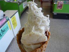 "Cool?? Japan ""Whitebait (Sirasu) Soft Cream"""
