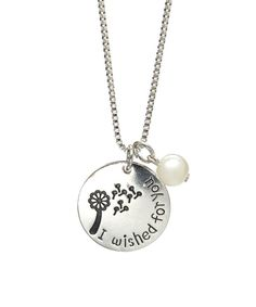 Look at this Silvertone 'I Wished For You' Necklace on #zulily today!