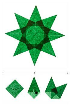 Sterne_falten-Anleitung_Weihnachtssterne-in-dunkelgrün