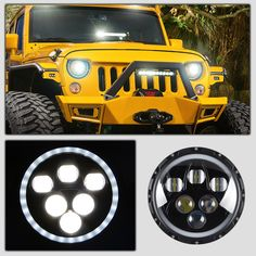 (119.00$)  Watch here - http://aijg4.worlditems.win/all/product.php?id=32714820598 - Racbox 2pcs 7'' Inch Round LED Headlight With CREE LED Chips 4000Lm DRL Angel Eye Hi/Lo for Hummer Harley Jeep Wrangler JK TJ