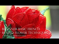 French beaded flowers - beginner basic techniques, a technique reference guide Beaded Flowers Patterns, French Beaded Flowers, Wire Flowers, Victorian Flowers, Crochet Patterns, Beading Projects, Beading Tutorials, Diy Crafts Jewelry, Diy Jewellery