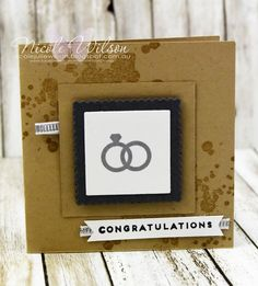 Nicole Wilson Independent Stampin' Up!® Demonstrator - Onstage Live Brisbane Display Board mini notecard congratulations wedding card Sample using hostess set Iconic Occasions. www.facebook.com/NicoleWilsonStamp #stampinup #onstage2016 #brisbanelive