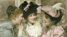 Mischief (Three Girl's heads) (Restrike Etching). by Sir Thomas Benjamin Kennington