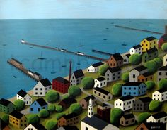 Provincetown from Atop the Monument by Tim Campbell by bluedogfood, $55.00  bluedogfood on Etsy