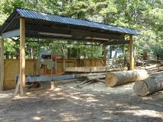 give me some ideas on sawmill shed Portable Bandsaw Mill, Portable Saw Mill, Lumber Mill, Wood Mill, Lumber Storage Rack, Timber Logs, Chainsaw Mill, Barns Sheds, Wood Shed