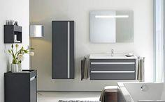 ensemble Kehto de Jacob Delafon avec meuble sous lavabo, armoire et lavabo