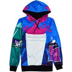 Dirty Sprite Hoodie ($80) ❤ liked on Polyvore featuring tops, hoodies, shirt hoodie, hooded sweatshirt, hooded pullover, zip hoodie and blue top
