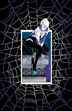 Spider-Gwen in colour by sean-izaakse on deviantART