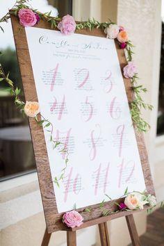 photo: Hunter Ryan Photo; wedding reception seating chart idea