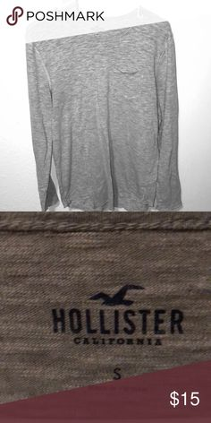 Long sleeve t-shirt Like New Condition Hollister Shirts Tees - Long Sleeve  Camisetas 09f7aef7d7297