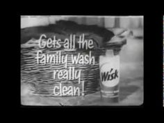 "VINTAGE 1957 ""NEW"" LIQUID WISK DETERGENT COMMERCIAL (2nd COMMERCIAL)"