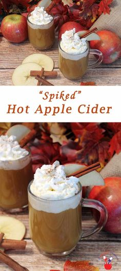 Spiked Hot Apple Cider is the perfect drink to war…