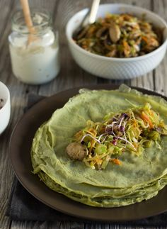 Vegan, gluten free savoury spinach crepes | crepes de espinafres (vegan e sem gluten)