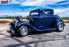 1932 Ford Duece Coupe roaring to go after some repairs by Superstition Specialty Cars.