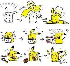 Pikachu too cute !!