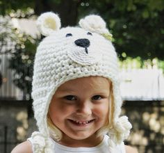 snow white floral teddy bear hat