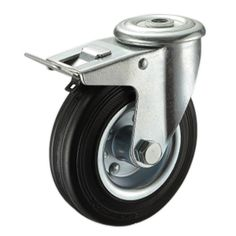 Swivel Brake 100mm Swivel Only Fixed Plate Outdoor Planter Castor Wheels x 4