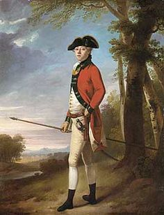 While it was more traditional for Naval officers to wear blue, Red is a more ubiquitous color in relation to England.