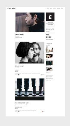 És.Cape - Fashion and Lifestyle Blog on Behance