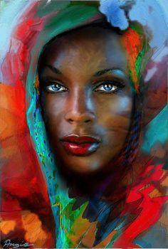 Angie Braun ~ Desert Rose~ Digitally painted with ART RAGE and GIMP2 (2011)