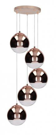 five-point hanging lamp in the shape of balls, in cooper, handmade Kitchen Lamps, Glass Replacement, Wind Chimes, Ceiling Lights, Lighting, Pendant, Outdoor Decor, Home Decor, Living Room