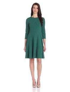 Gabby Skye Women's Bracelet-Sleeve Solid Flare Dress
