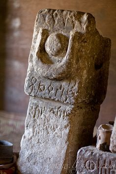 Sabean Artifact, Yeha treasury, Ethiopia. Photo credit: Sean Winslow