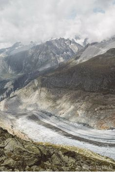 The Aletsch Glacier, the longest glacier in Switzerland. Read more about our hike along the Aletsch Glacier! Travel & Photography | All the places you will go