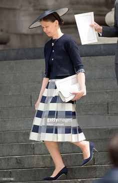 Lady Sarah Chatto attends a National Service of Thanksgiving as part of the 90th birthday celebrations for The Queen at St Paul's Cathedral on June 10, 2016 in London, England.  (Photo by Mark Cuthbert/UK Press via Getty Images)