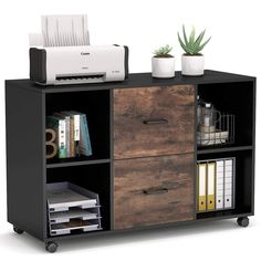 Home Office Filing Cabinet, Drawer Filing Cabinet, Home Office Storage, Filing Cabinets, Filing Cabinet Organization, File Folder Organization, Office Cabinets, Office Organization, Open Shelving
