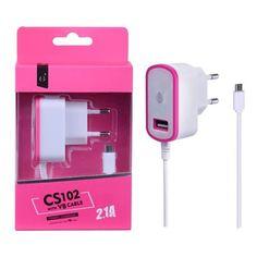 Cargador de Red con cable Micro USB y Puerto USB 2.1 A en dos colores diferentes!! Por tan sólo 5,49€!! Disfruta de esta oferta en http://moviliario.es #cargadorusb #moviliario
