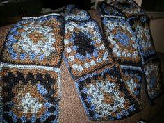 Granny square scarf Granny Square Scarf, Blanket, Crochet, Ganchillo, Blankets, Cover, Crocheting, Comforters, Knits