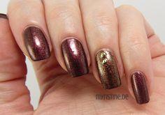 Golden Brown Nails mit Brown Splendor (P2, Gold & Crown)