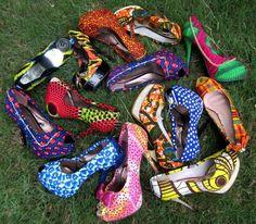wax shoes ~African Prints, African women dresses, Kitenge, Ankara, Kente, African fashion styles, African clothing, Nigerian style, Ghanaian fashion ~DK