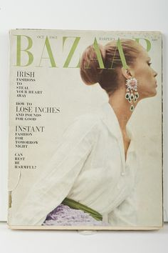 Harper's Bazaar, October 1963 The appearance of her designs in these magazines firmly established Sybil as an internationally recognised designer on par with those from Paris, London and New York. Irish Fashion, Lose Inches, Future Fashion, Magazines, October, Museum, Explore, London, York