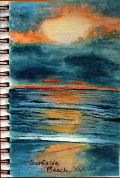 beach scene art journal page. by jody raines at the flickr art journal love group