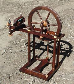 """Carson Cooper """"Colette"""" spinning wheel Modernized reproduction of a late 1700's French spinning wheel Currently in production"""