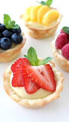 Recipe with video instructions: A twist on regular fruit tarts — the crust is actually a cookie! Ingredients: 1/2 recipe Cookie Dough, 4 egg yolks, 1/2 cup sugar, 1/4 cup cornstarch, Pinch of...