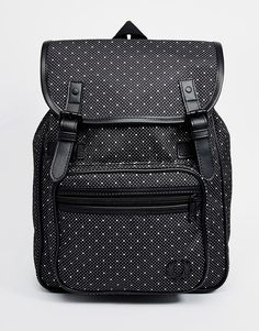 Fred Perry Backpack in Polka Dot Canvas