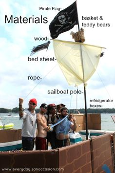 Decorate a pontoon into a pirate ship | how to make a pirate ship warning these are very piratey directions ...